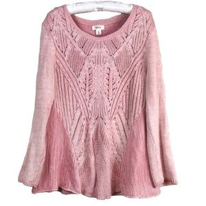 Style & Co lovely pink flare bottom sweater sz XL